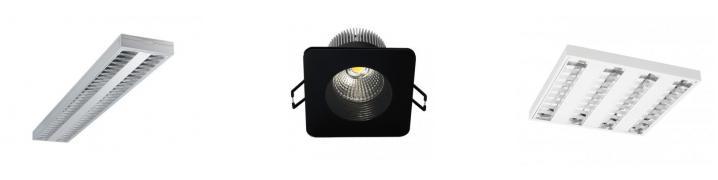 LED/TL5/T8 Aubfau- und Einbauleuchten