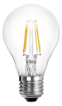 mlight LED-AGL Fadenlampe klar, 6W, 230V, E27, 2700K, 300°, 750lm, 20000h, A+, dimmbar