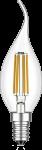 mlight LED-Windstoss Fadenlampe klar, 4W, 230V, E14, 2700K, 300°, 390lm, 20000h, A++, dimmbar
