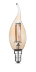 mlight LED-Windstoss Fadenlampe gold, 4W, 230V, E14, 2700K, 300°, 350lm, 20000h, A+, dimmbar