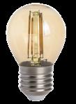 mlight LED-Tropfen Fadenlampe gold, 4W, 230V, E27, 2700K, 300°, 350lm, 20000h, A+, dimmbar