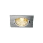 SLV NEW TRIA 68 Einbauleuchte, LED, 3000K, eckig, aluminium gebürstet, 38°, 12W, inkl. Treiber, Clipfedern