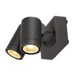 SLV HELIA Outdoor Wandleuchte, zweiflammig, LED, 3000K, IP55, anthrazit, schwenkbar, 2x8W