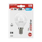Century LED Mini Kugel ECOLINE - 3W - E14 - 6400K - 250Lm - IP20 - Blister 1er