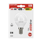 Century LED Mini Kugel ECOLINE - 6W - E14 - 3000K - 470Lm - IP20 - Blister 1er