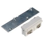 SLV LÄNGSVERBINDER für EUTRAC Hochvolt 3Phasen-Einbauschiene, elektrisch/mechanisch, weiß