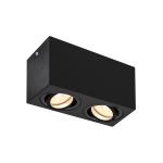 SLV TRILEDO Double Indoor Deckenaufbauleuchte, QPAR51, schwarz, max 10W