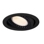 SLV SUPROS Indoor LED Deckeneinbauleuchte schwarz rund 3000K 60° CRI90 2600lm