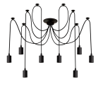 Century Hängelampe 8-fach Schwarz - E27 - IP20