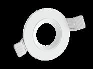 Century Einbaurahmen KLAK rund, aus Aluminium, für 50mm Spots, verstellbar 60°, incl. GU10 Fassung, Weiß