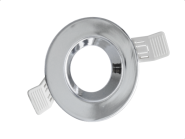 Century Einbaurahmen KLAK rund, aus Aluminium, für 50mm Spots, verstellbar 60°, incl. GU10 Fassung, Chrom