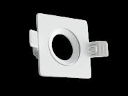 Century Einbaurahmen KLAK eckig, aus Aluminium, für 50mm Spots, verstellbar 60°, incl. GU10 Fassung, Weiß
