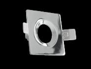 Century Einbaurahmen KLAK eckig, aus Aluminium, für 50mm Spots, verstellbar 60°, incl. GU10 Fassung, Chrom