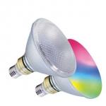 LM RGB/W PAR38 IP55 14W-1200lm-E27/830 inkl. Fernbedienung