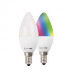 LM RGB/W C37 5.5W-470lm-E14/827 inkl. Fernbedienung