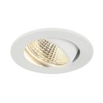 SLV NEW TRIA 68 I CS Indoor LED Deckeneinbauleuchte weiß rund 3000K 38° inkl. Treiber Clipfedern