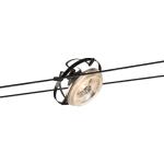 SLV QRB Seilleuchte für TENSEO Niedervolt-Seilsystem, QR111, schwarz, schwenkbar