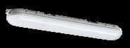 mlight LED-Feuchtraumleuchte IP 65 1 flammig,9W,230V,4000K,180°,1350lm,40000h,A+,nicht dimmbar,Farbe,grau