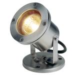 SLV NAUTILUS Outdoor Strahler, QR-C51, IP67, edelstahl 304, max. 35W