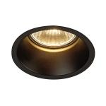 SLV HORN 1 Einbauleuchte, QPAR51, einflammig, rund, schwarz matt, max. 50W, inkl. Clipfedern