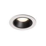 SLV LED Deckeneinbauleuchte NUMINOS® DL S weiß/schwarz 4000K 55° inkl. Blattfedern