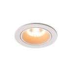 SLV LED Deckeneinbauleuchte NUMINOS® DL S, weiß/weiß 2700K 20° inkl. Blattfedern