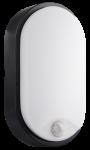 Century LED Wandlampe OASI oval schwarz mit Sensor