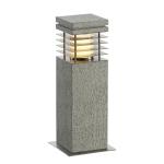 SLV ARROCK GRANITE Outdoor Standleuchte, TC-(D,H,T,Q)SE, IP44 , eckig, salt & pepper, Granit, L/B/H 12/12/40 cm, max. 15W