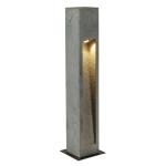 SLV ARROCK STONE Outdoor Standleuchte, LED, 3000K, eckig, steingrau, L/B/H 12/12/75 cm, max. 6W
