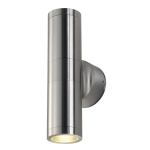 SLV ASTINA Outdoor Wandleuchte, TCR50-SE, IP44, rund, up/down, aluminium gebürstet, max. 44W
