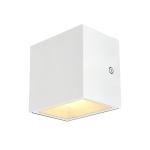 SLV SITRA CUBE WL LED Outdoor Wand- und Deckenaufbauleuchte, weiß, IP44, 3000K, 10W