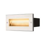 SLV BRICK Outdoor Wandeinbauleuchte, LED, 3000K, edelstahl, 230V, IP67, 850lm, 10W