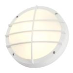 SLV BULAN GRID Outdoor Wand- und Deckenleuchte, TC-TSE, IP55, rund, weiß, max. 50W