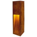 SLV RUSTY SLOT 50 outdoor floor stand, LED, 3000K, rusted steel, L/W/H 12/12/50 cm