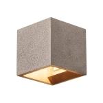 SLV SOLID CUBE Wandleuchte, QT14, schwarzer Sandstein, max. 25W