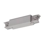SLV LÄNGSVERBINDER für S-TRACK Hochvolt 3Phasen-Aufbauschiene, mit Einspeisemöglichkeit, silbergrau