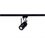 SLV EUROSPOT INTEGRATED LED, schwarz, 13W, 2700K, 15°, inkl. 3P.-Adapter