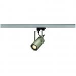 SLV EUROSPOT INTEGRATED LED, silbergrau, 13W, 2700K, 36°, inkl. 3P.-Adapter