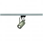 SLV EUROSPOT INTEGRATED LED, silbergrau, 13W, 3000K, 24°, inkl. 3P.-Adapter