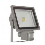 DMLUX Themisto Sensor 20W 3000K LED Flutlichtstrahler 1800Lm, grau