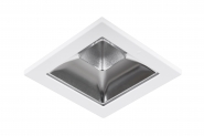Concord Myriad quadrat. LED 15W 840 48° DALI Refl. silber Rahmen weiss IP65 Einzelbatterie 3h Leuchte Concord - 1 Stück