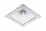 Concord Myriad quadrat. LED 15W 840 25° DALI Refl. weiss Rahmen chrom IP65 Einzelbatterie 3h Leuchte Concord - 1 Stück