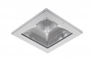Concord Myriad quadrat. LED 15W 830 48° CDim Refl. silber Rahmen chrom IP65 Einzelbatterie 3h Leuchte Concord - 1 Stück