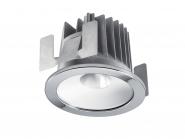 Concord Myriad rund LED 13W 840 48° DALI Refl. weiss Ring chrom IP65 Leuchte Concord - 1 Stück