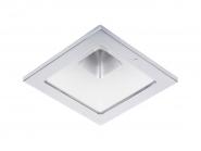 Concord Myriad quadrat. LED 15W 827 25° CDim Refl. weiss Rahmen chrom IP65 Einzelbatterie 3h Leuchte Concord - 1 Stück