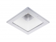 Concord Myriad quadrat. LED 15W 827 48° DALI Refl. weiss Rahmen chrom IP65 Einzelbatterie 3h Leuchte Concord - 1 Stück
