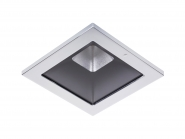 Concord Myriad quadrat. LED 15W 827 25° CDim Refl. schwarz Rahmen chrom IP65 Einzelbatterie 3h Leuchte Concord - 1 Stück