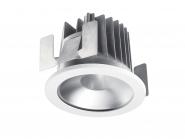 Concord Myriad rund LED 13W 830 48° CDim Refl. silber Ring weiss IP65 Leuchte Concord - 1 Stück