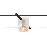 SLV COMET Seilleuchte für TENSEO Niedervolt-Seilsystem, QR-C51, schwarz, teilsatiniertes Glas