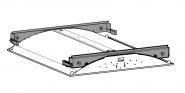Sylvania Rubico T5/LED 600x600 Einbauset für verdeckte Deckensysteme Leuchte Sylvania - 1 Stück
